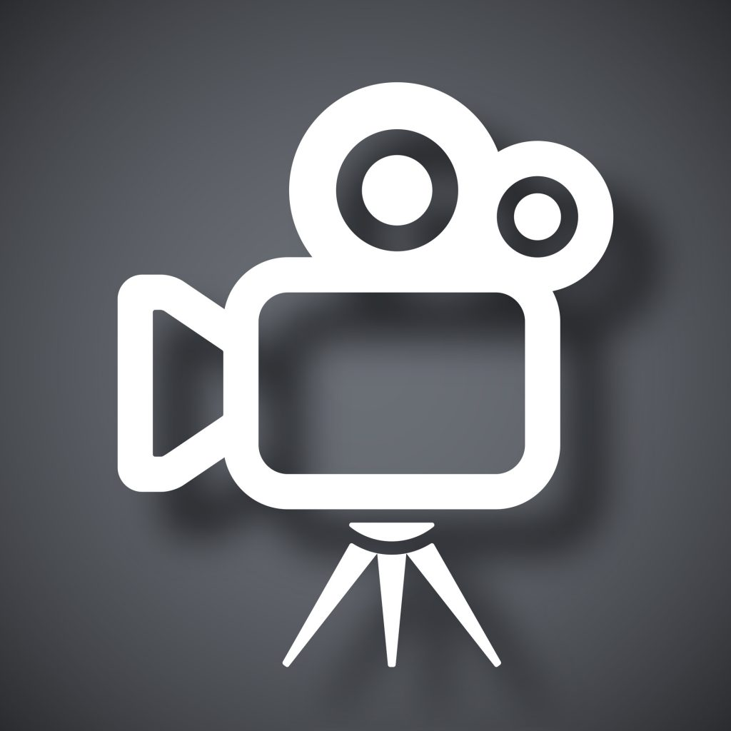 Vector movie camera icon